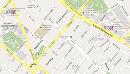 Mapa lokacija SOX-a